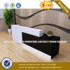 Steel Metal Modesty Panel Tempered Glass Reception Table/Desk (HX-8N1809)