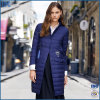 Fashion Printing Ribbon Is a Warm and Long Waterproof Ladies′ Jacket