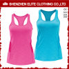 Ladies Running Custom Made Cotton Singlets for Women Gym (ELTWBJ-69)