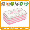 Rectangular Storage Tin Metal Chocolate Container for Food Can Packing