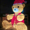 4m Height LED Bear Large Outdoor Christmas Light Decoration