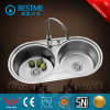 Round Shape Double Basin Stainless Steel Kitchen Sink