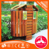 Hot Sale Garbage Bin Wooden Trash Can Waste Bin in Park