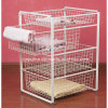 4 Tiers White Wire Basket Drawer (LJ2005)