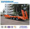 60t China 3 Axle Lowbed Lowdeck Crane Trailer for Cargo