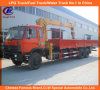 Dongfeng Cummins 12 Wheeler Straight Arm Telescopic 12tons Crane Truck