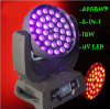 Stage Lighting 36*18W Rgbwauv 6in1 Zoom Wash LED Moving Head