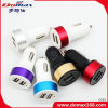 Mobile Phone Gadget 2 USB Adaptor Metal Car Charger Dual