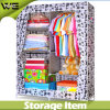 Printing Fabric Folding Double Bedroom Online Wardrobe Design