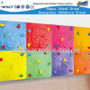Plastic Kids Outdoor Play Equipment Wall Mounted Climbing (HF-19204)