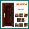 Jaway Manufacture Security Exterior Iron Steel Door (JW-907)