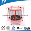 Pink Colour Hexagonal Trampoline with Enclosure