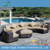 Antique PE Rattan Outdoor Used Semi-Round Sofa Set (S0026)