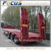 3 Axles Lowbed Low Back Semi Truck Trailer