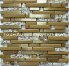 Strip Gold Glass Tile, Mixed Metal Mosaic for Kitchen Backsplash Tile (SM237)