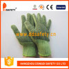Ddsafety 2017 Heavy Weight Green String Knit with Black PVC Gloves