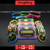 Acrylic Crystal / Crown Bronzing Poker Chips with Wheat Casino Chips (YM-CP30-31)
