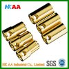 3.5mm / 6.5mm Brass / Gold Bullet Connector