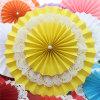 Wedding Gift Supplies Yellow Paper Fan