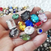 Fancy Glass Crystal Sew on Rhinestone with Claw (SW-Rectangle/10*14mm)