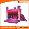 2017 Inflatable Pink Princess Jumping Castle with Slide (T2-310)