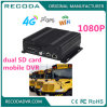1080P Live View Dual SD Card Mobile Vehicle DVR with 4G 3G GPS WiFi for Bus