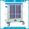 AG-Cht009 Steel Patient 36 Layers Record Trolley Hospital Folder Cart