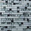 Hot Sale 8mm Thick Mixed Color Crystal Glass and Marble Stone Mosaic for Swimming Pool