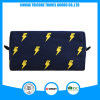 Black Color Lightning Printed Canvas Cosmetic Bag for Beauty