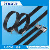Thicker 304 316 Stainless Steel Epoxy Coated Cable Tie for Marine Use
