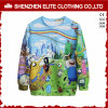 Fashion Design Men Polyester Sublimation Fleece Pullover Sweatshirt (ELTSTJ-760)