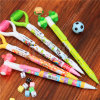 Plastic Ball Pen Mechanical Pencil with Massage Wheel for Student Use (1096B/2096B)