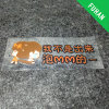 Waterproof Little Girl Clear PVC Car Sticker