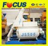 Compulsion Type 500L Electric Twin Horizontal Shaft Concrete Mixer Js500