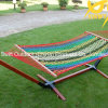 Color Stripe Cotton Rope Swing Hammock
