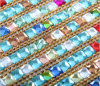 Colorful Shining Crystals with Beads Heat Transfer Sticker for Bags