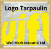 Logo Printed Bothside Coated Storage and Relief Tarpaulin
