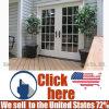 Hot Sale Simple Exterior Timber Wood Door