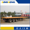3 Axles Flatbed Semi Trailer, Platform Container Trailer