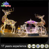 Moderate Price 3D White String Light Reindeer with Sleigh