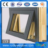 High Quality Aluminium Wood Composite Glass Awning Window
