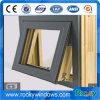 High Quality Aluminium Wood Composite Glass Awning Window