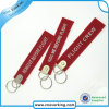 Promotion Polyester Logo Customzied Embroidery Keychain