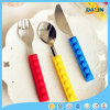 Creative Silicone Building Block Stainless Steel Cutlery Set
