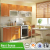 Matt Wood Veneer Cabinet Melamine Knock Down Kitchen Cabinet Made in China
