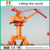 Harbor Using 60 Ton Pedestal Remote Control Crane