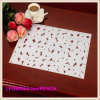 Fashion Printed PVC Lace Placemat / Crochet Doilies for Bar Mat