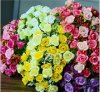 21PCS Plastic Flowers, 21PCS Small Head Rose Bud Artificial Flowers