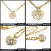 2016 Gold Heart Gold Engraved Crystal Necklace China Wholesale #15356