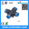 One Touch Cross Plastic Pneumatic Tube Fittings with CE